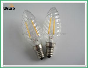 Twisted COB Filament LED Candle Light C35 2W 4W 6W 8W E14 E27 Base for Decorative pictures & photos
