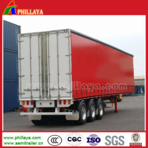 Three Axles Side Door Open Van Box Trailer pictures & photos