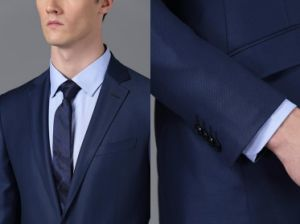 Custom Wholesale New Design Fabric Business Suit and Uniform Guangzhou Mens Designer Suits Wholesale Fitness Man Apparel Manufacturers Blazer Clothing Uniform pictures & photos