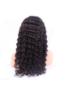 """100% Virgin Indian Human Hair Deep Wave Full Lace Wig 10""""-15"""" pictures & photos"""