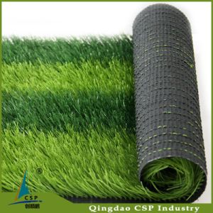 Cheap 50mm Soccer Artificial Grass with PE Fibrilated Yarn pictures & photos