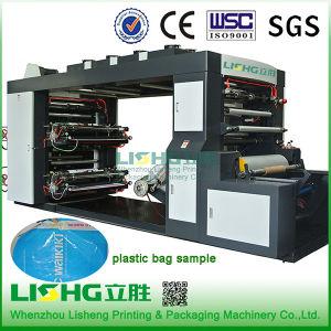 Lishg 4 Colour Stack Plastic Film Flexo Printing Machine pictures & photos