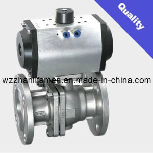 Pneumatic Operated Ball Valve Q641f (API, DIN, GB) pictures & photos