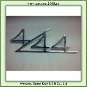 Customized 3D Adhesive Car Chrome Badge (S1M038) pictures & photos