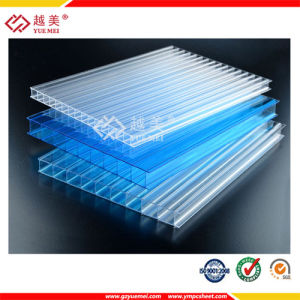 Clear Twin Wall Hollow Polycarbonate Sheet pictures & photos