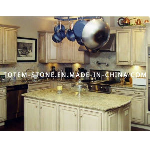 Prefab Natural Yellow Stone Granite Countertop for Kitchen pictures & photos