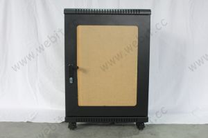 Us Standard Network Cabinet with Front Smoky Perspex Door pictures & photos