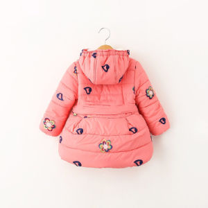 Cute Embroidery Girl Cotton Coat for Children′s Clothing pictures & photos