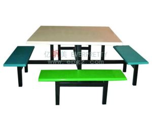 Classroom Furniture Double Student Table and Chair Attached pictures & photos
