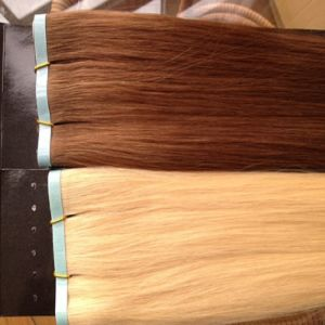 Double Drawn European Remy Tape Hair Extensions pictures & photos
