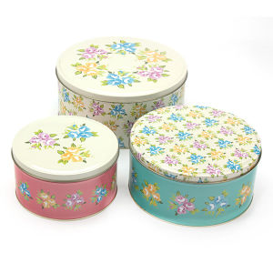 Printed Round Metal Tin Box for Gift Packaging pictures & photos