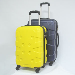 ABS Hard Shell Trolley Zipper Luggage Carry on pictures & photos