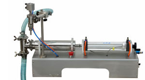 Manual Single or Two Head Filling Machine for Bottle Can Bag Barrel pictures & photos