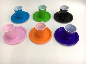 Disposable Plastic Solid Color Dinnerware pictures & photos