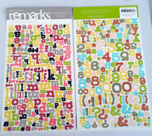 Cardstock Letter Stickers / Handmade Die-Cut Alphabet Paper Craft Stickers pictures & photos