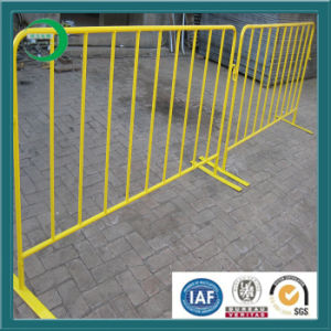 Ccb Temporary Fence with PVC Yellow Crowd Control Barrier pictures & photos