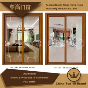 Aluminum Sliding Door with Different Panels pictures & photos