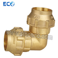 Brass Female Reduced 90 Degre Elbow for PE Pipe Fitting pictures & photos