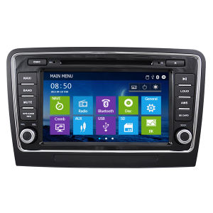 Auto Parts with GPS Navigation System DVD Bluetooth iPod RDS High Quality Tuner for Skoda Superb (IY8070)