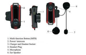 800m Bluetooth Motorcycle Intercom Motorbike Helmet Headset Two Way Interphone pictures & photos
