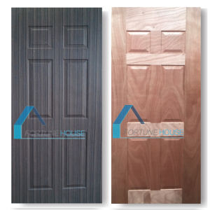 Moulded Deep 10mm Plywood Door Panel Skin with Wood Veneer pictures & photos