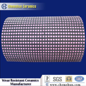 Wear Resistant Ceramic Square Mosaic Tile for Pulley Lagging with 5 Bumps pictures & photos