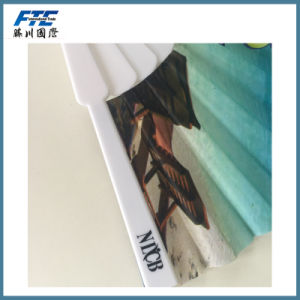 Custom Polyester Foldable Hand Fans with UR Design pictures & photos