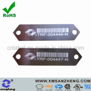 Custom Matt Sequential Numbering Water Resistant Clear Barcode Aluminum Labels pictures & photos