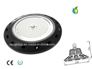 Epistar SMD UFO 200W LED High Bay Lighting 130lm/W Black Aluminum Case pictures & photos