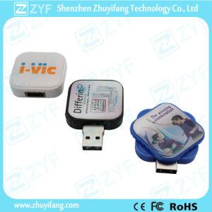 Cube Shape Swivel Plastic USB Flash Drive (ZYF1239) pictures & photos