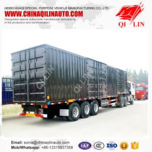 3 Axle Steel Van Cargo Semitrailer or Van Truck Semi Trailer pictures & photos