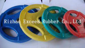 Gym Equipment Fitness Equipment Exercise Tri-Grip Colorful Rubber Plate
