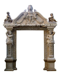 Stone Carving Statuary Door Surround (DF3225) pictures & photos