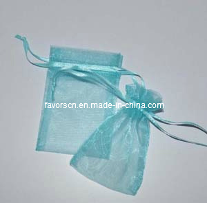 "Turquoise 5X7"" Sheer Organza Wedding Pouch pictures & photos"