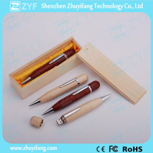 Maple Wood Pen USB Stick with Gift Wooden Box (ZYF1340) pictures & photos