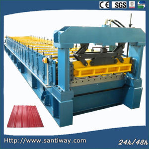 Two Trapezoidal Profile Double Layer Cold Roll Forming Machine pictures & photos