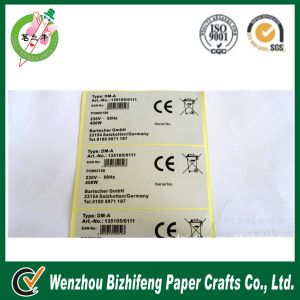 Product Buttom Warning Packing Label Sticker