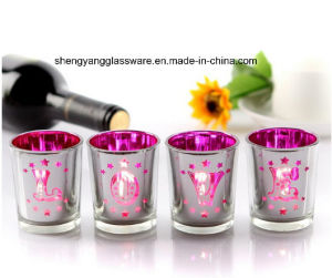 Plating Color Glass Cup Candle Holder/Decoration Cup/Holiday Articles pictures & photos