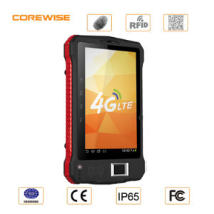 Android 6.0 Handheld RFID and Fingerprint Tablet with 1d/2D Barcode Scanner pictures & photos