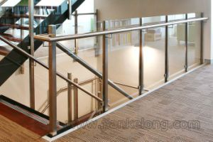Staircase Glass Railing System, Balustrade, Fence
