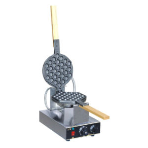 Commercial Waffle Maker Stainless Steel Electric Eggettes Egg Waffle Maker Rotated 180 Degrees