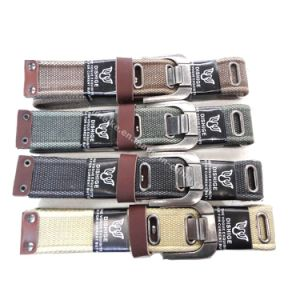 New Design Classical Fashion Men′s Canvas Belt Wide Pin Buckle pictures & photos