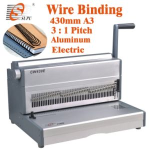 Electric Double Wire Binding Machine for A3 A4 Paper Punch (CW430E) pictures & photos