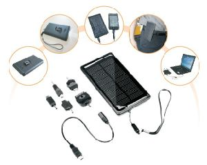 Solar Mobile Phone Charger with Flashlight