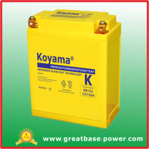 Sealed Maintenance Free Motorcycle Battery 15Ah 12V (KB12U) pictures & photos