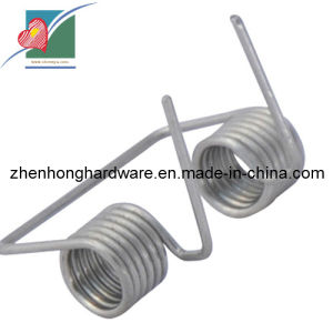 Customized China Made Steel Clips Flat Wire Torsion Springs (ZH-021)
