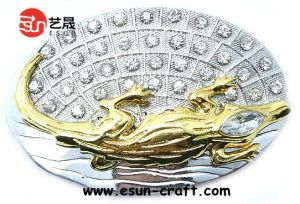 Metal Woman Dress Belt Buckle (BB021)