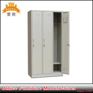 Powder Coated 3-Door Steel Clothes Cabinet pictures & photos