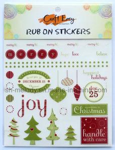 Christmas Rub on Transfer Sticker/ Rub Ons/Rub on Sticker pictures & photos