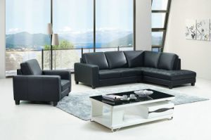 Modern Home Used 1+2+3 Black High Quality Sofa pictures & photos